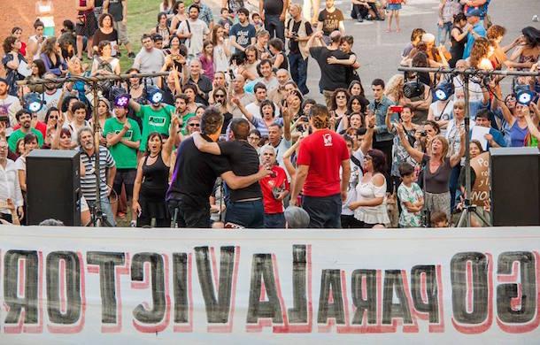 La militancia del Partido Solidario, presente en las plazas